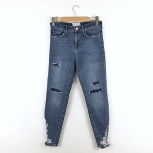 We The Free Ripped Chewed Hem Crop Jeans